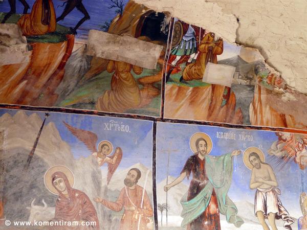 Библейски сцени в стенописите на Лозенски манастир